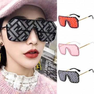 Blade Flat Top Sunglasses Rimless One Piece Lens
