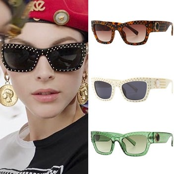 Bold Arms Studded Cat Eye Sunglasses Ultimate Trend