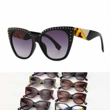 Ladies fashion tip pointed vintage cat eye sunglasses