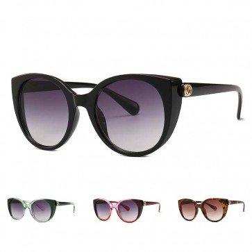 Vintage oversize frame cat eyes silhouette sunglasses