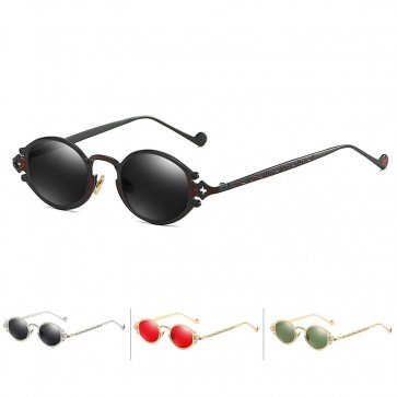 Vintage Steampunk Metal Temples Cute Small Sunglasses