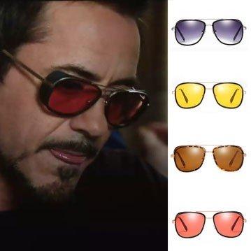 Modern metallic frame oversize lens aviator sunglasses