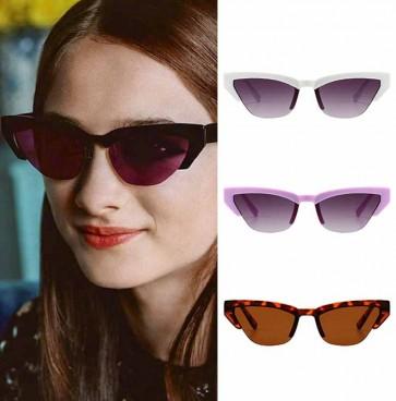 Vintage half frame medium size cat's eye sunglasses