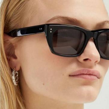 Cat Eye Angular D Frame Street Trend Acetate Sunglasses