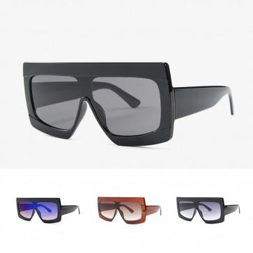 Cool Oversized Pilot Sunglasses Men Women Square Frame