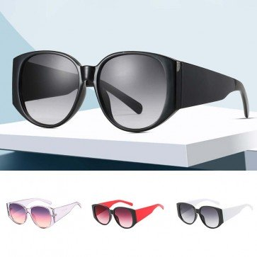 Vintage Single Nose Bridge Round Lens Sunglasses