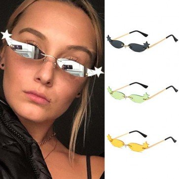 Eye Catching Glamorous Stars Small Cat Eyes Sunglasses