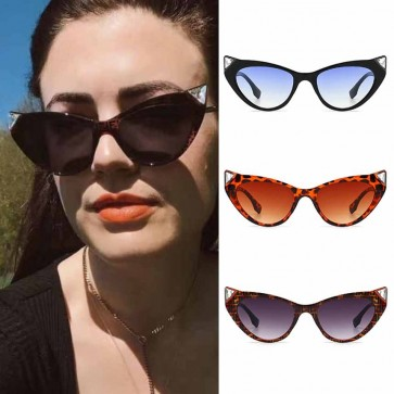 Bling stone pointed rim cat eye comfy fit girls shades