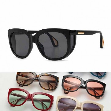 Side Shield Cat Ear Sunglasses Retro Steam Punk Shades