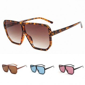 Flat top oversized frame square sunglasses