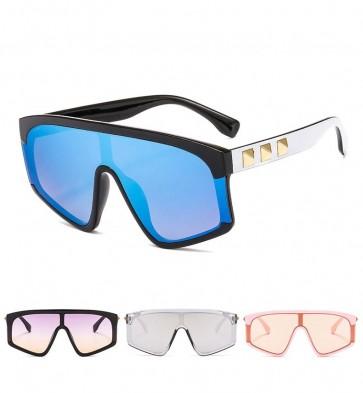 Mono Lens Oversized Unisex Goggle Styled Sunglasses