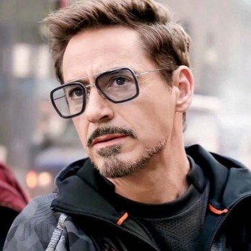 Avengers Tony Stark Flight Square Aviation Sunglasses