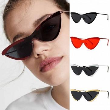 Metal Frame Women Fashion Girl Sexy Cat Eye Sunglasses