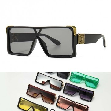Flat Top Shades One Piece Lens Squared Sunglasses
