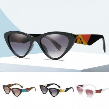 Vintage Looking Multicolored Fashion Cat Eye Sunglasses