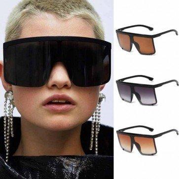 Super Cool Futuristic Wrap Around One Piece Sunglasses