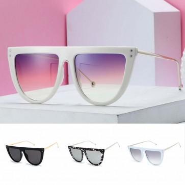 Glamorous Flat Top Oversized Cat's Eye Sunglasses
