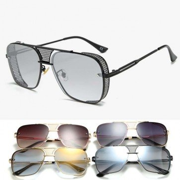 Oversized modern big police style aviator sunglasses