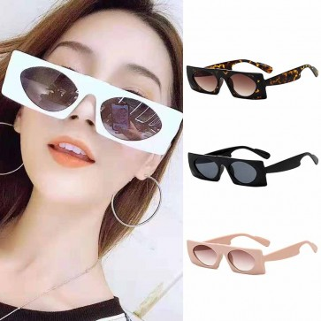 Flat top frame square sunglasses rectangle boxy eyewear