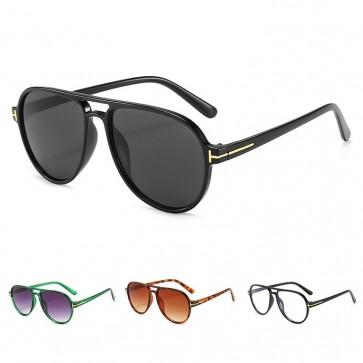 Vintage Looking Large Frame Fashion Pilot Sunglasses