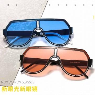 Stylish Oversized Pilot Metal Frame Aviator Sunglasses