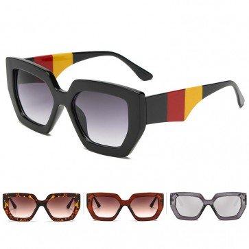 Square Sunglasses Women Luxury Retro Tricolor Frame