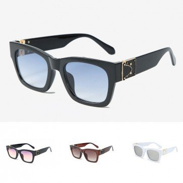 Celebrity square thick frame oversize cat eyed shades