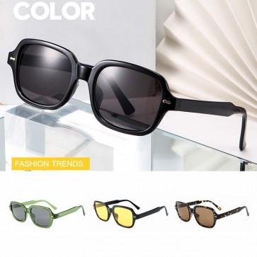 Square shaped frame acetate frame vintage sunglasses