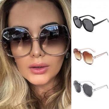 Women Shades Fashion Big Round Oversized Sunglasses