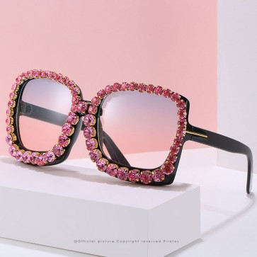 Luxury rhinestones shiny butterfly crystal sunglasses