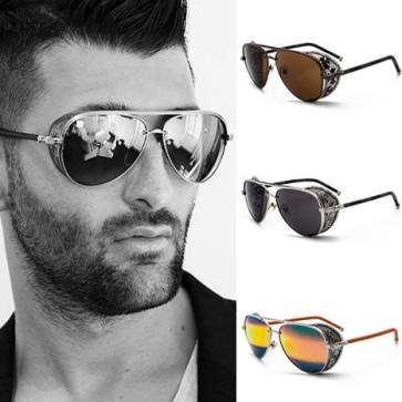 Vintage Aviator Goggles Punk Side Shields Sunglasses