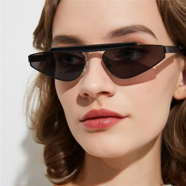 Vintage Punk Style Flat Top Cat Eyes Sunglasses