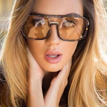 Flat Top Shades Oversized Square Sunglasses