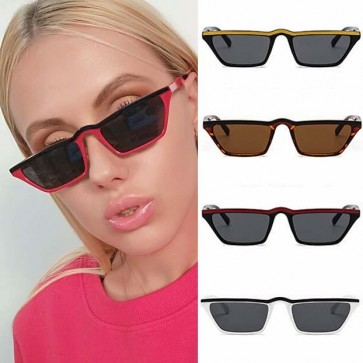 Vintage punk style small size cat's eye sunglasses