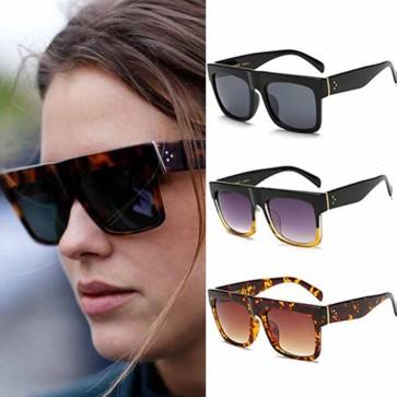 Flat Top Sunglasses Cool Square Sun Glasses Big Frame