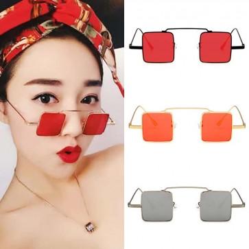 Super Vintage Small Sized Sunglasses Retro Square Frame