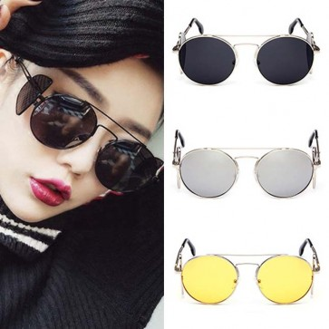 Studio side cover shield transparent round sunglasses