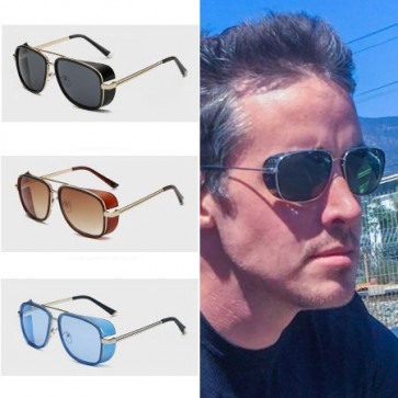 Super stylish side shield shades punk style aviators