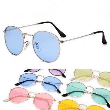 Vintage chic sunglasses distinctive round candy lens