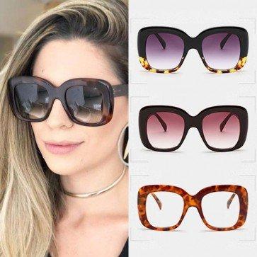 Lifestyle Square Retro Multi-color Oversize Sunglasses