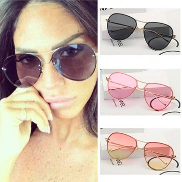 Timeless Colorful Teardrop Aviators Flat Lens Shades