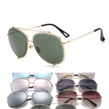 Classic tear drop aviators trendy pilot sunglasses