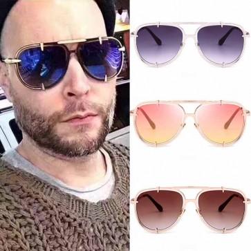 Large Men Retro Metal Bar AVIATOR Fashion Sunglasses