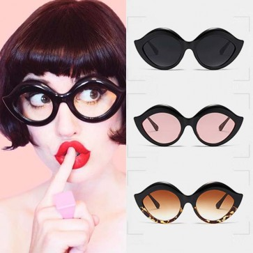 Vintage winged frame cat eyes silhouette sunglasses