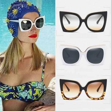 Celebrity women club cat eye big oversized sunglasses