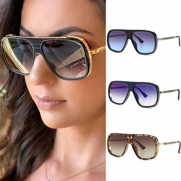 Aviator style sunglasses reference season's palette