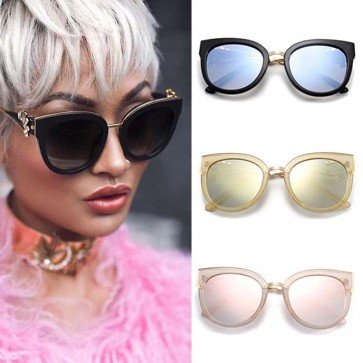 Retro elegant womens cat eye sunglasses rhinestone arms