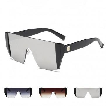 Oversized modern big police style aviator sunglasses