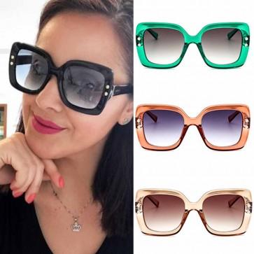 Oversize square bold frame womens fashion sunglasses