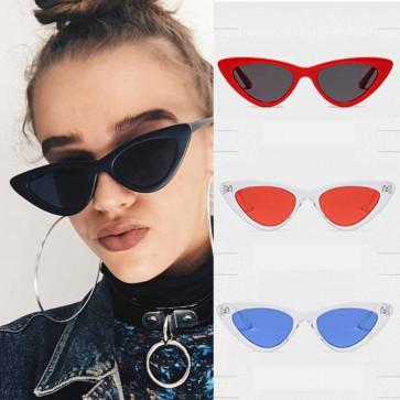 Fashion Retro Glam Chic Solid Color Cat Eye Sunglasses